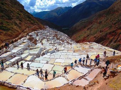 Salzsalinen in Peru