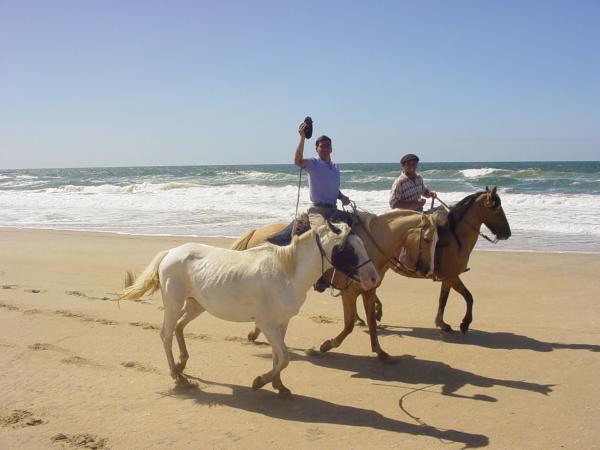 Uruguay Reisen Strand Pferde